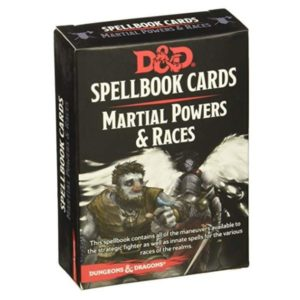 Spellbook Cards Martial Powers & Races